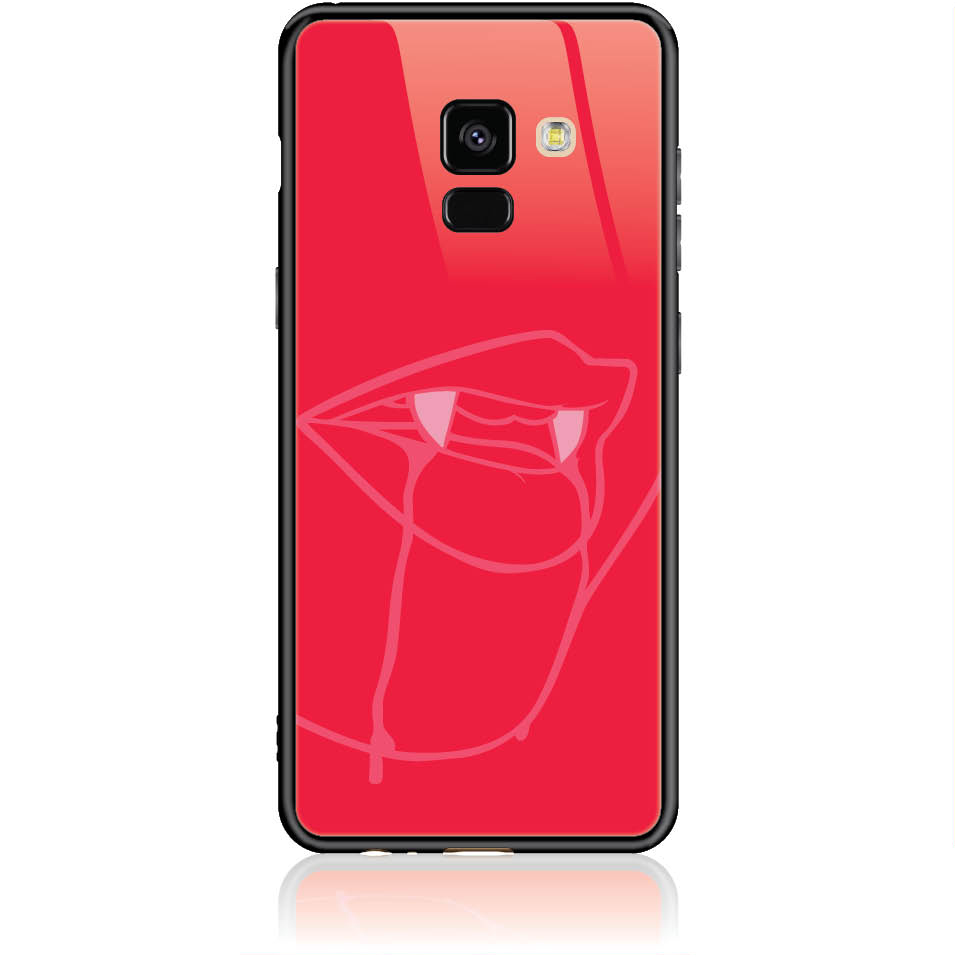 Sexy Vimpire Red Phone Case Design 50226  -  Samsung Galaxy A8 (2018)  -  Tempered Glass Case