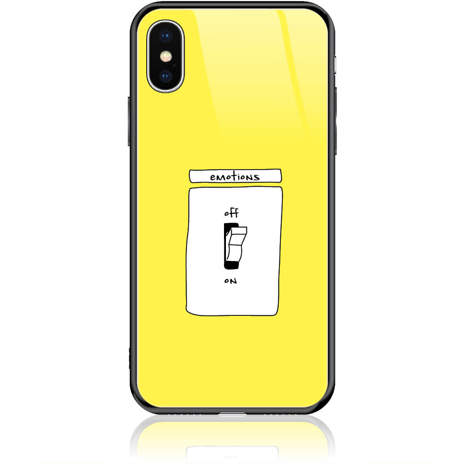 Emotions Off Phone Case Design 50228  -  Iphone Xs  -  Tempered Glass Case