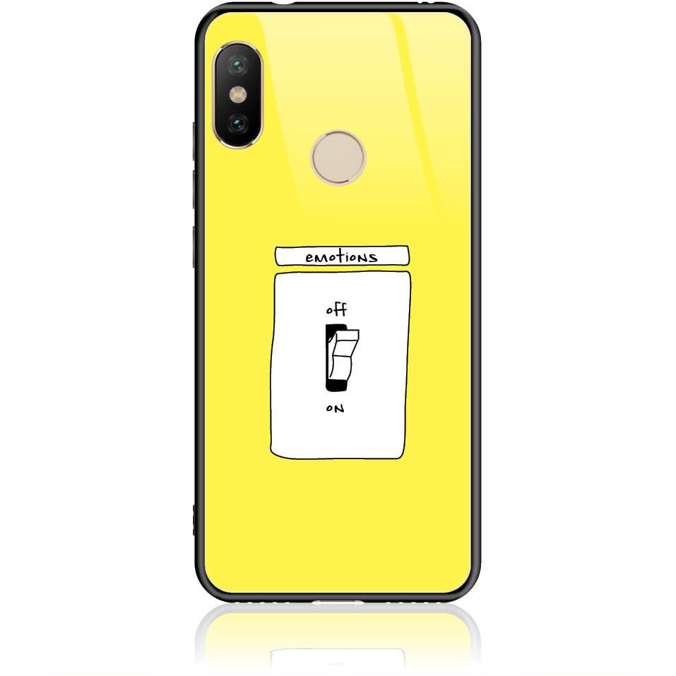 Emotions Off Phone Case Design 50228  -  Xiaomi Mi A2 Lite  -  Tempered Glass Case