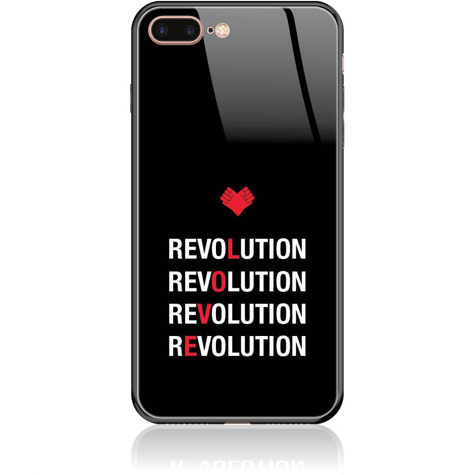 Love Revolution Phone Case Design 50230  -  Iphone 7 Plus  -  Tempered Glass Case