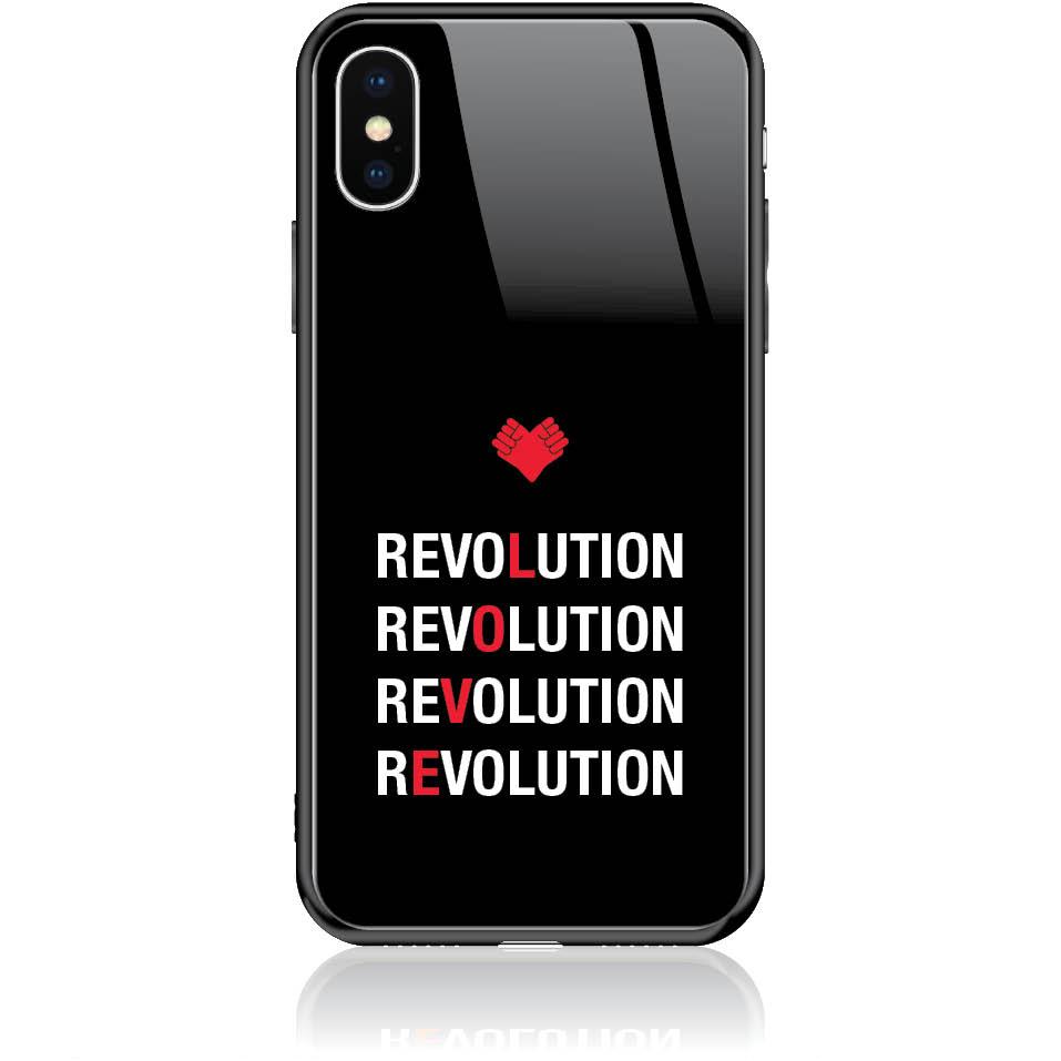 Love Revolution Phone Case Design 50230  -  Iphone X  -  Tempered Glass Case