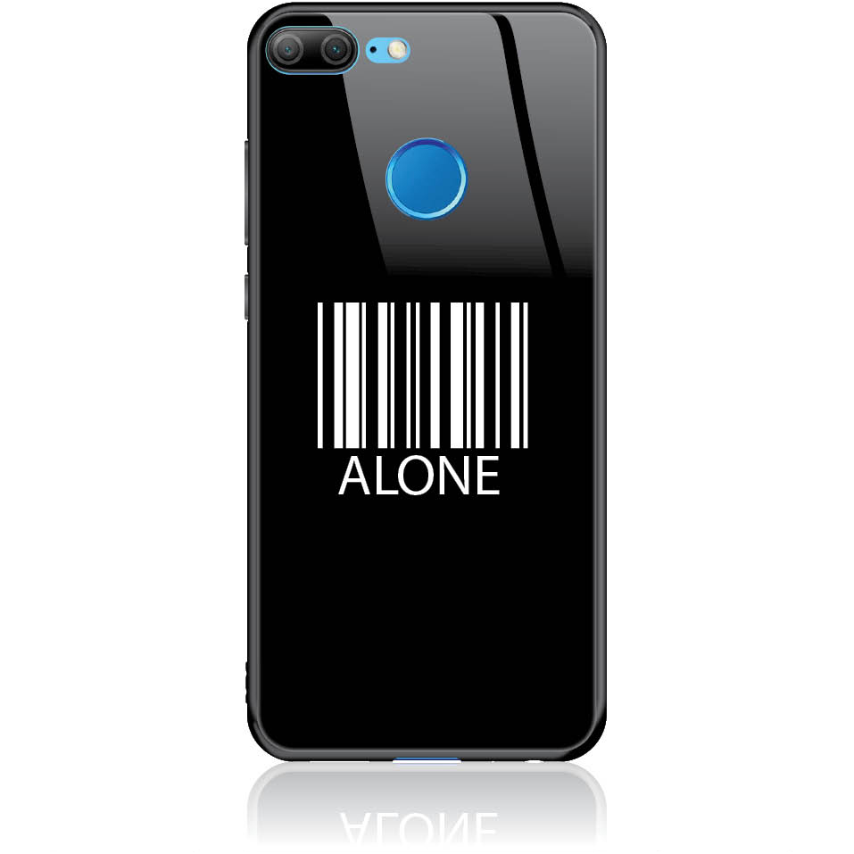 Alone Barcode Art Phone Case Design 50283  -  Honor 8x  -  Tempered Glass Case