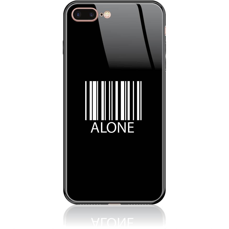 Alone Barcode Art Phone Case Design 50283  -  Iphone 8 Plus  -  Tempered Glass Case