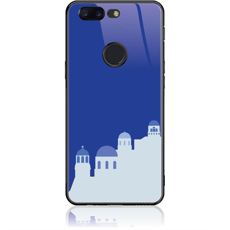 Santorini Pure Blue Phone Case Design 50294  -  One Plus 5t  -  Tempered Glass Case