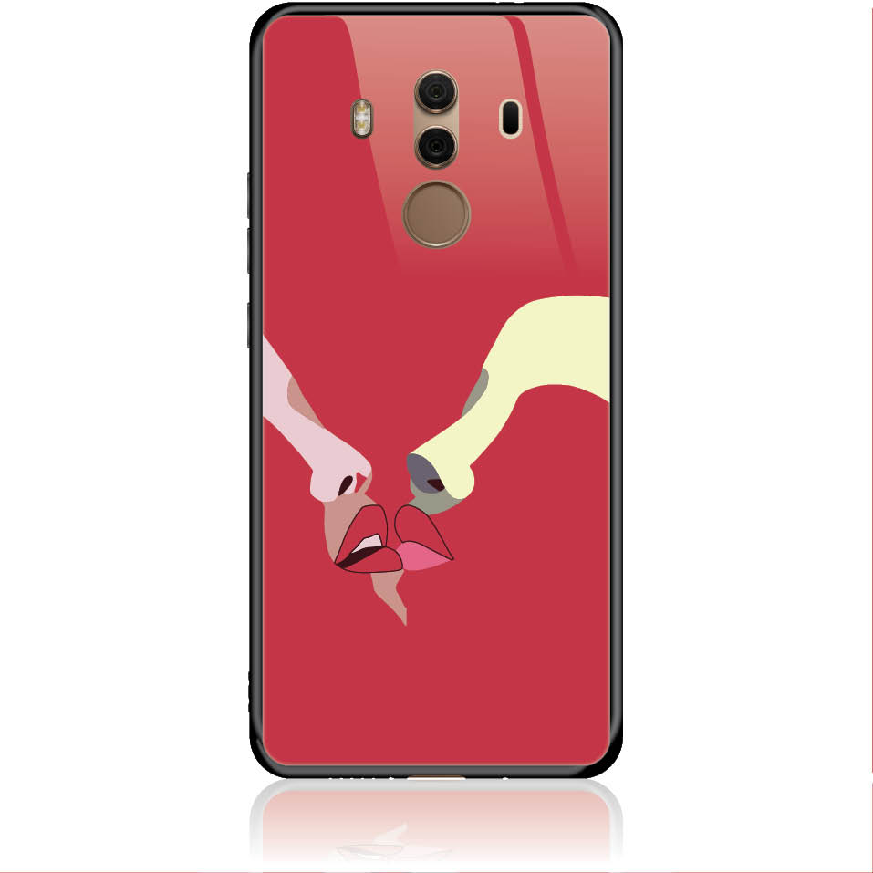 Red Lovers Phone Case Design 50297  -  Huawei Mate 10 Pro  -  Tempered Glass Case