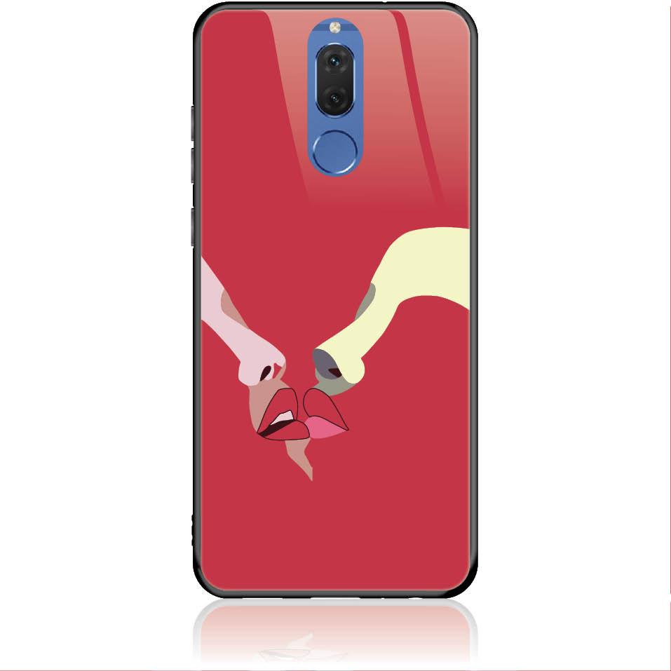 Red Lovers Phone Case Design 50297  -  Huawei Nova 2i  -  Tempered Glass Case