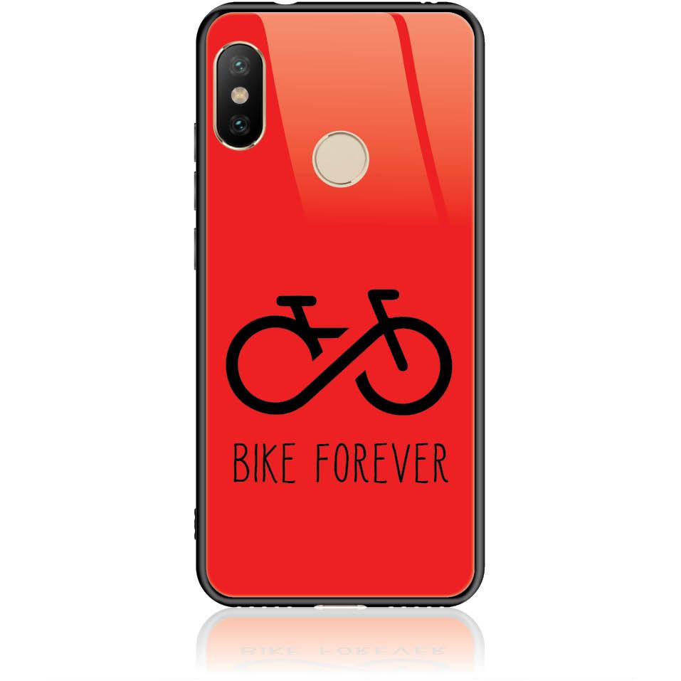 Forever Bike Phone Case Design 50304  -  Xiaomi Mi A2 Lite  -  Tempered Glass Case