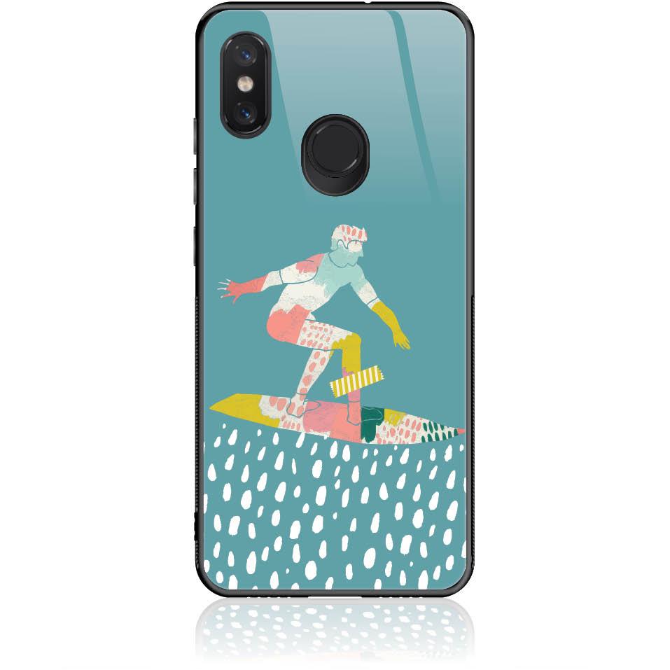 Surf Boy Phone Case Design 50305  -  Xiaomi Mi 8  -  Tempered Glass Case