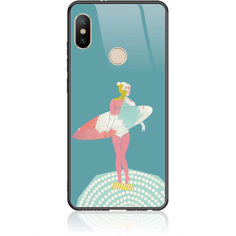 Surf Girl Phone Case Design 50306  -  Xiaomi Redmi Note 5/note 5 Pro  -  Tempered Glass Case