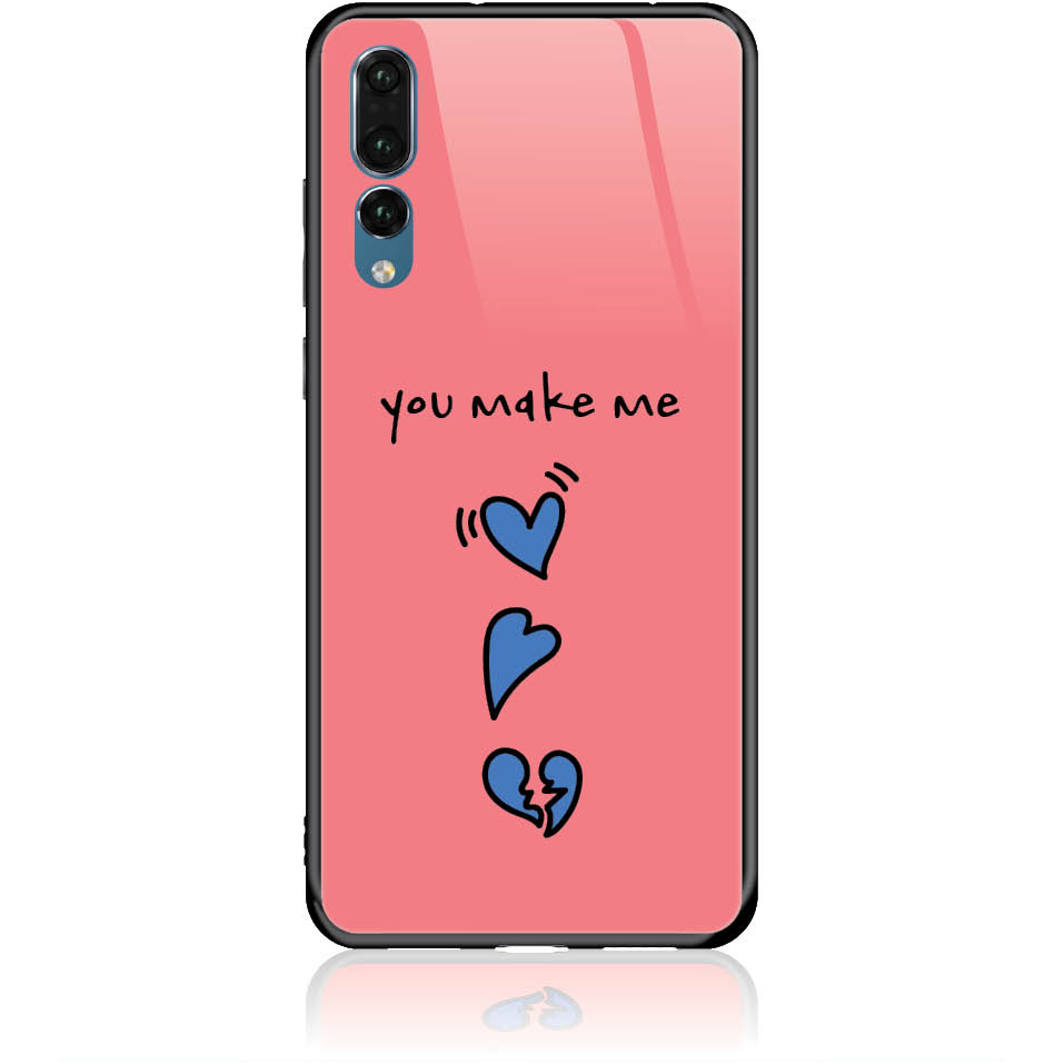 Shake My Heart Phone Case Design 50315  -  Huawei P20 Pro  -  Tempered Glass Case