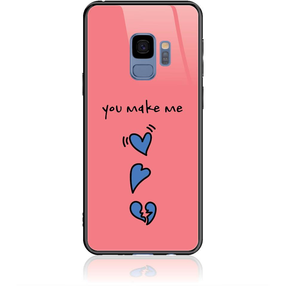 Shake My Heart Phone Case Design 50315  -  Samsung Galaxy S9  -  Tempered Glass Case