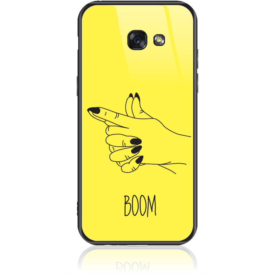 Yellow Boom Girl Gung Phone Case Design 50319  -  Samsung Galaxy A5 (2017)  -  Tempered Glass Case