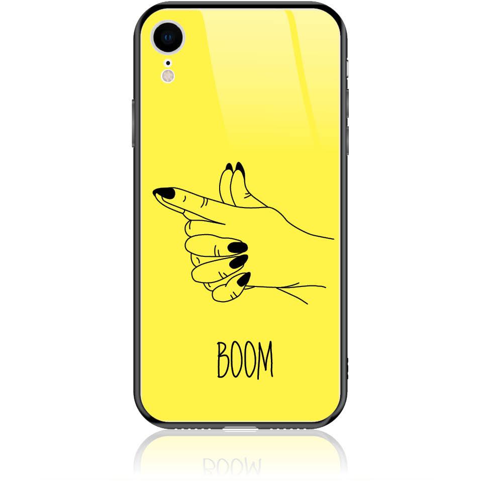 Yellow Boom Girl Gung Phone Case Design 50319  -  Iphone Xr  -  Tempered Glass Case