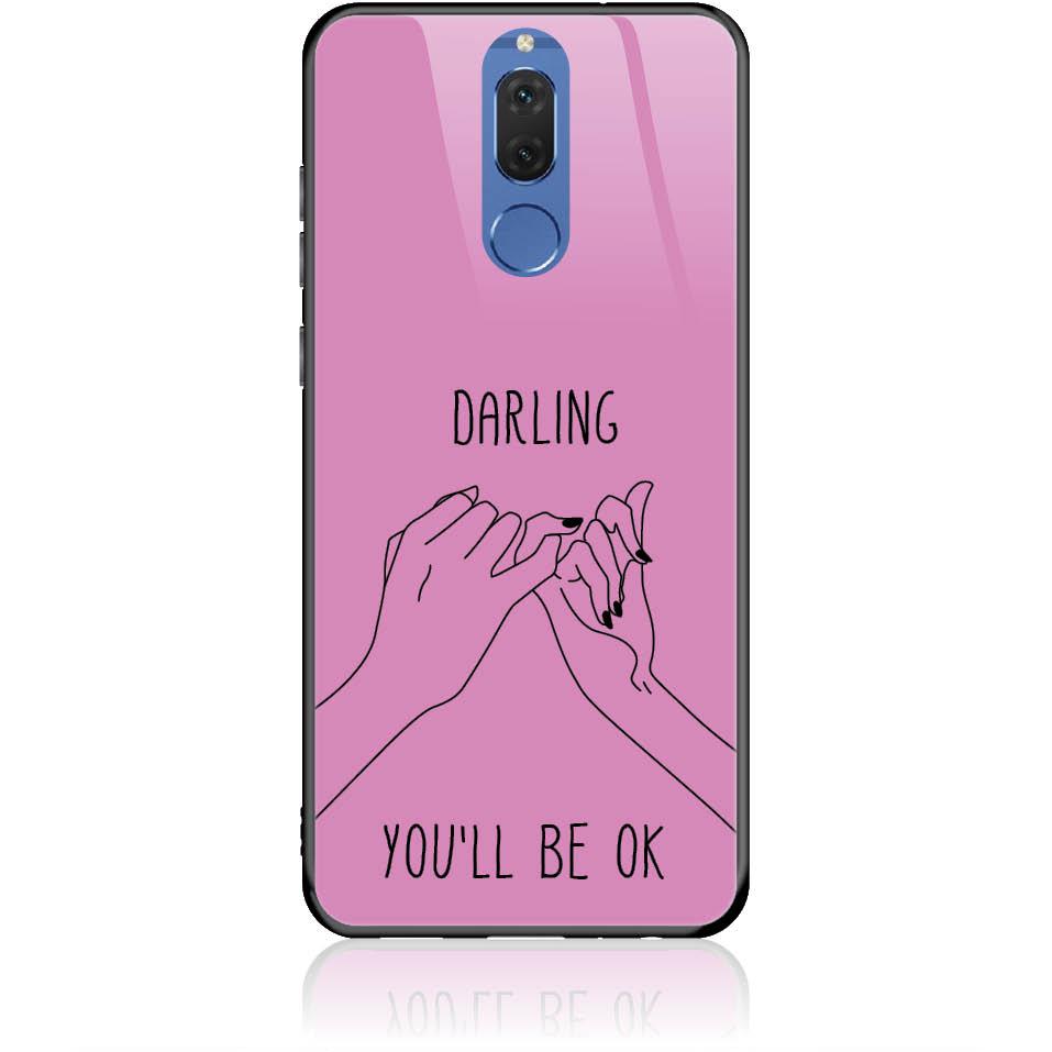 You'll Be Ok Phone Case Design 50322  -  Huawei Nova 2i  -  Tempered Glass Case