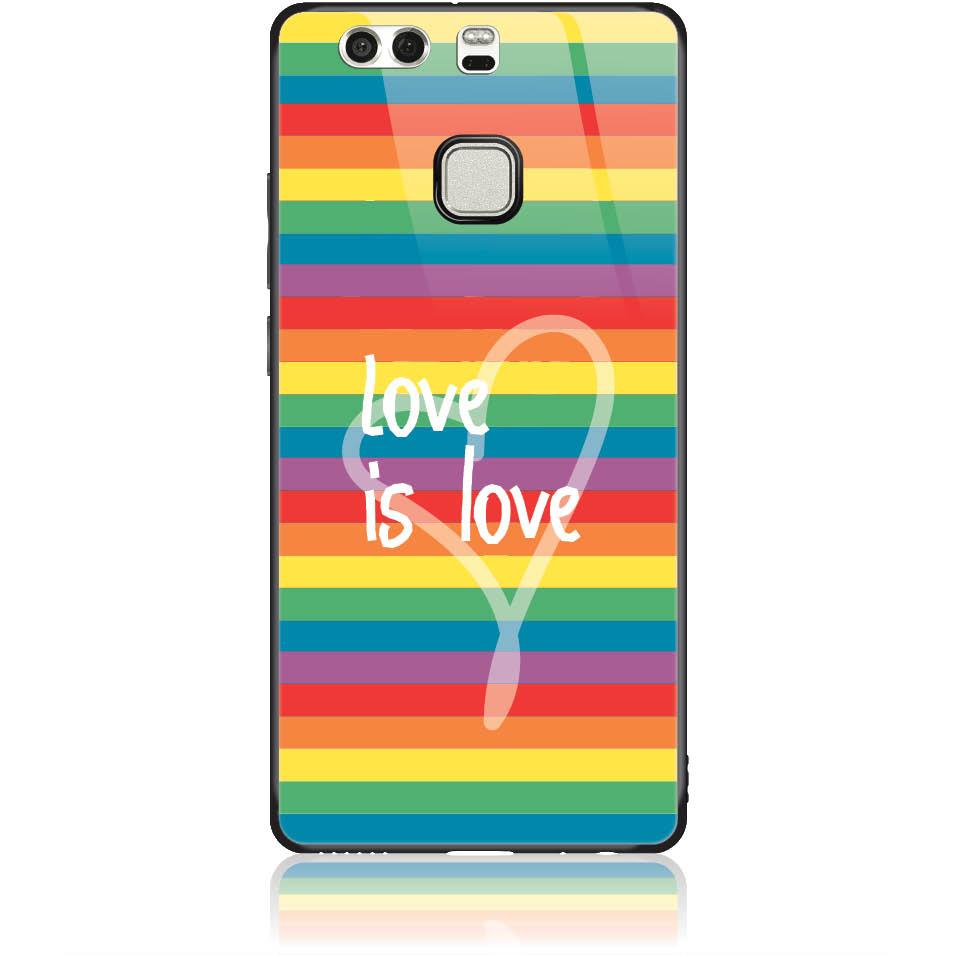 Case Design 50324  -  Huawei P9  -  Tempered Glass Case