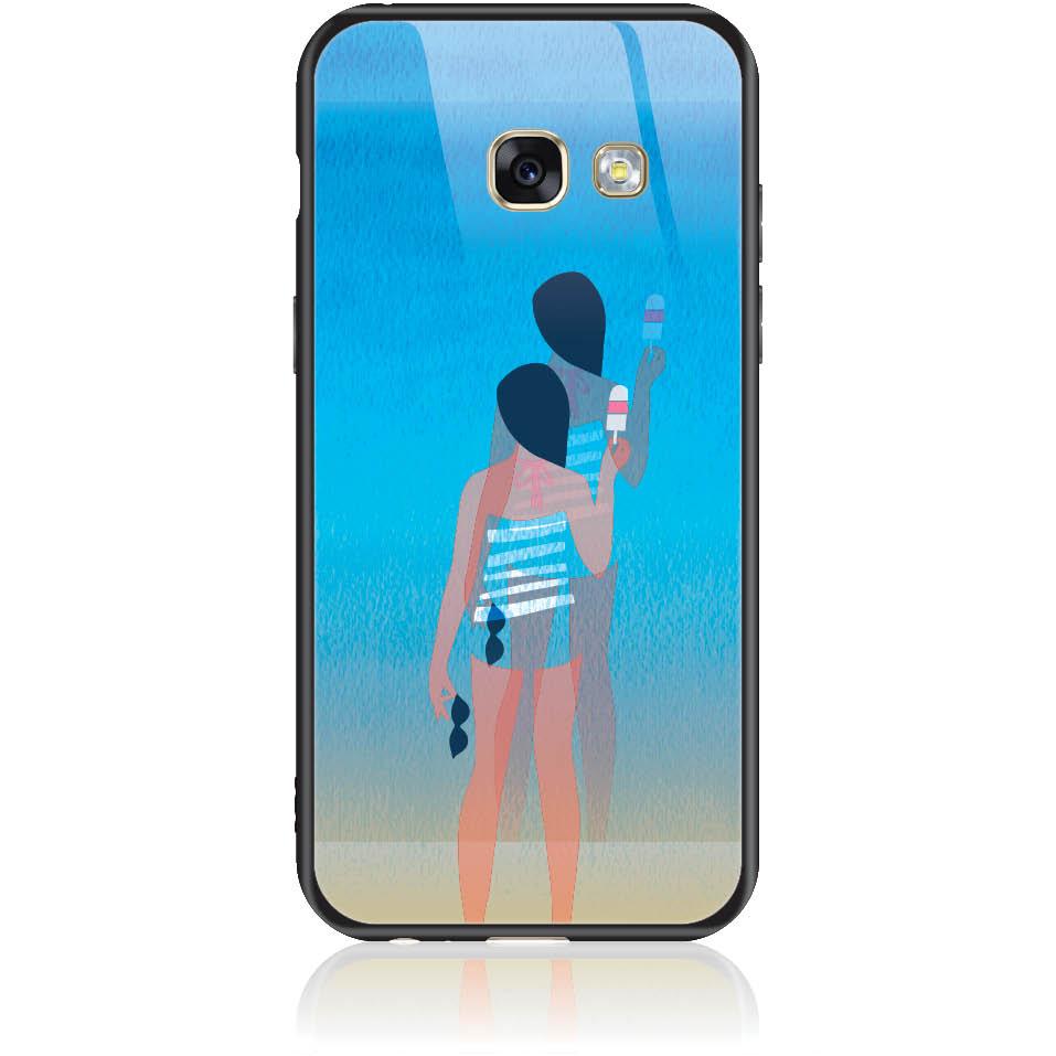 Delicious Summer Phone Case Design 50332  -  Samsung Galaxy A3 (2017)  -  Tempered Glass Case