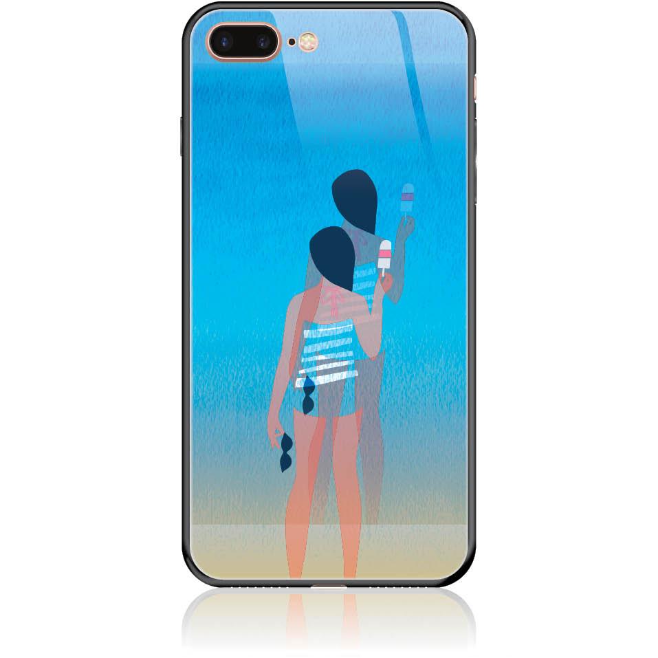 Delicious Summer Phone Case Design 50332  -  Iphone 8 Plus  -  Tempered Glass Case