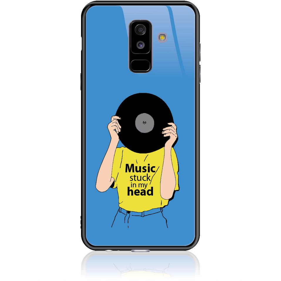 Music Stuck In My Head Phone Case Design 50339 - Galaxy A6+ - Tempered Glass Case