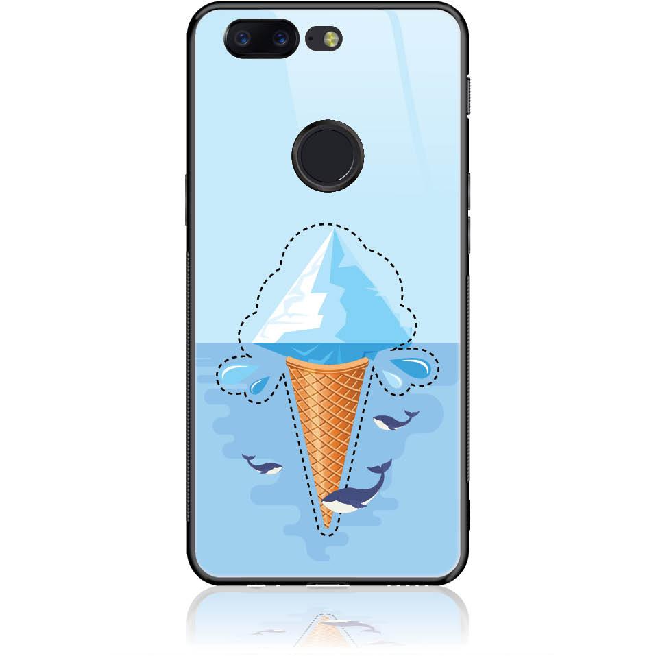 Case Design 50352  -  One Plus 5t  -  Tempered Glass Case