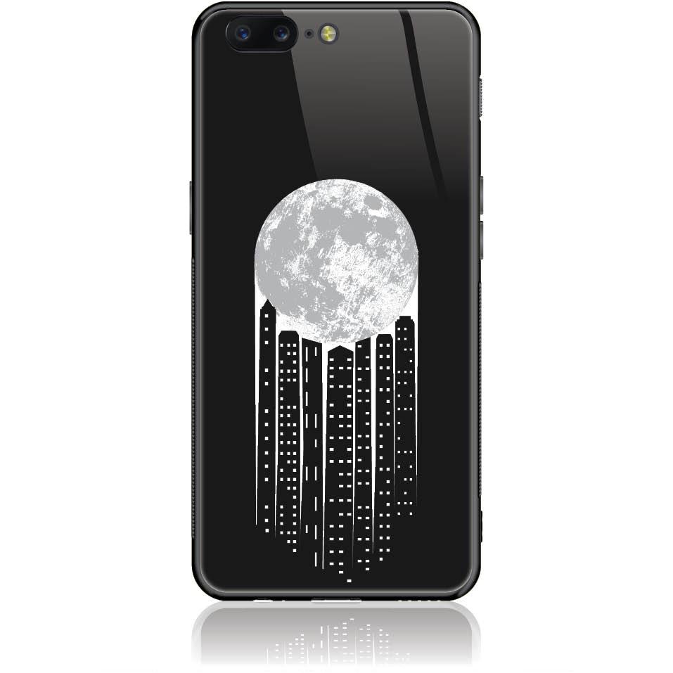 City Moonlight Phone Case Design 50369  -  One Plus 5  -  Tempered Glass Case