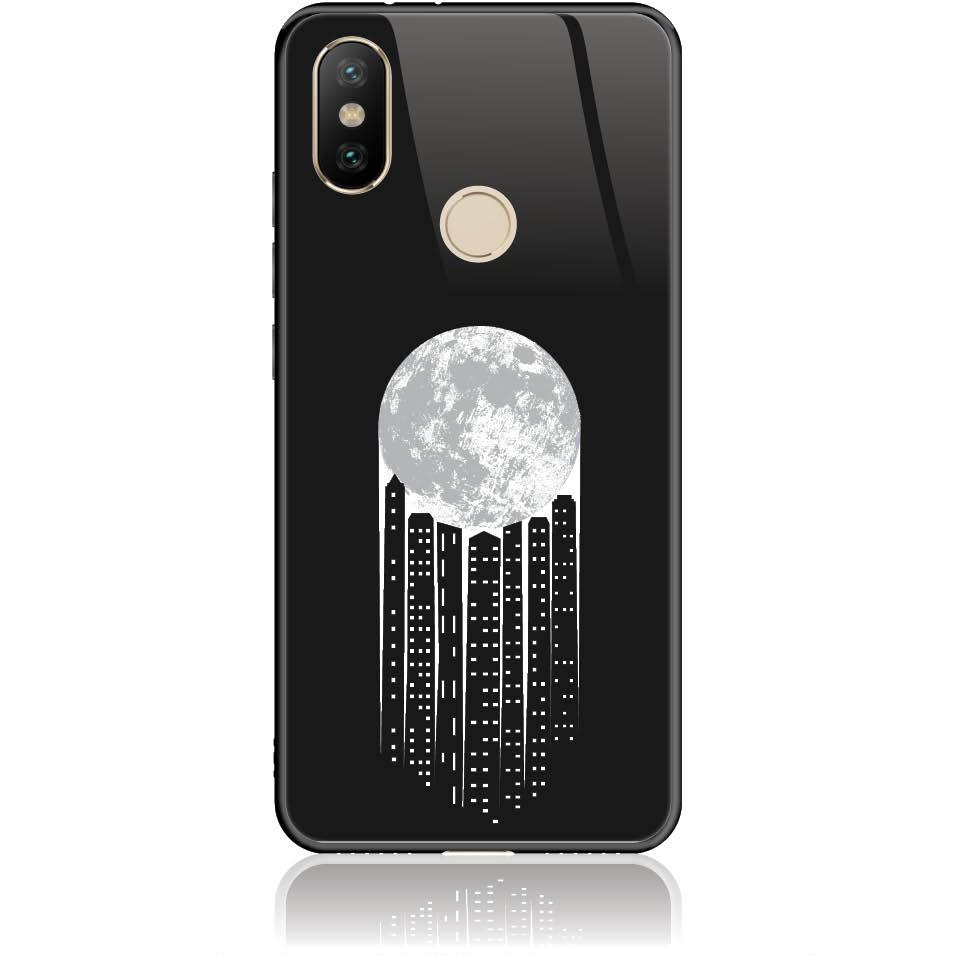 City Moonlight Phone Case Design 50369  -  Xiaomi Mi A2  -  Tempered Glass Case