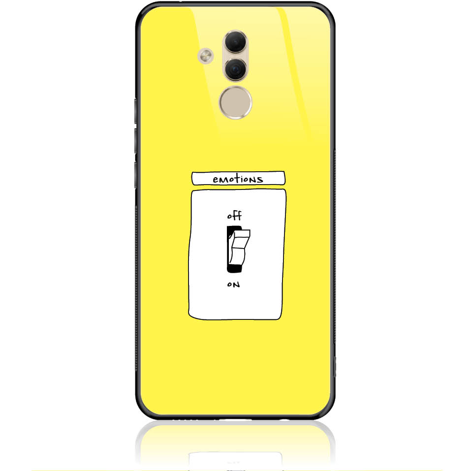 Emotions Off Phone Case Design 50228  -  Huawei Mate 20 Lite  -  Tempered Glass Case