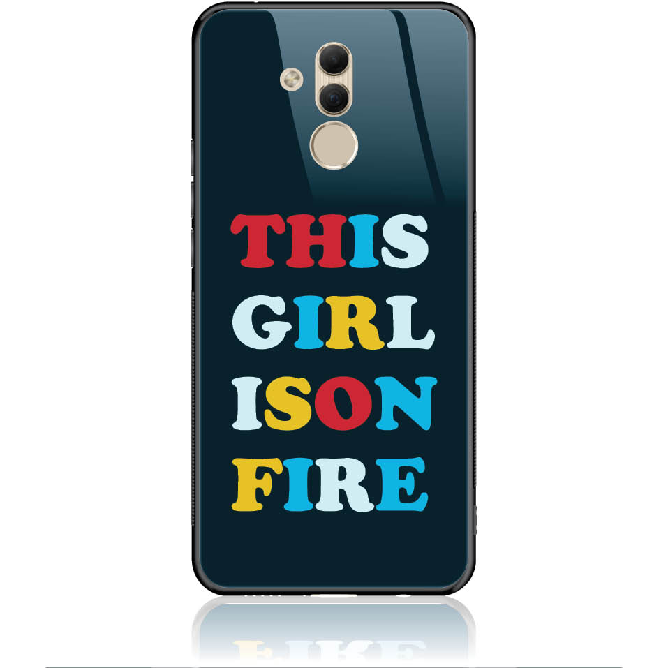 Girl Is On Fire Phone Case Design 50325  -  Huawei Mate 20 Lite  -  Tempered Glass Case