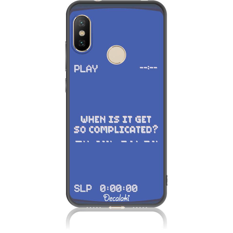 Play The Game 90s Retro Phone Case Design 50412  -  Xiaomi Mi A2 Lite  -  Soft Tpu Case