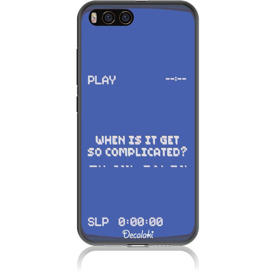 Play The Game 90s Retro Phone Case Design 50412  -  Xiaomi Mi 6  -  Soft Tpu Case