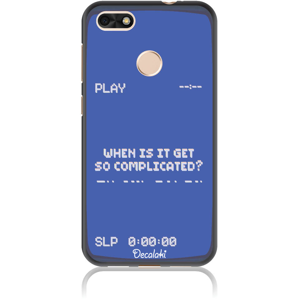Play The Game 90s Retro Phone Case Design 50412  -  Huawei Y6 Pro 2017  -  Soft Tpu Case