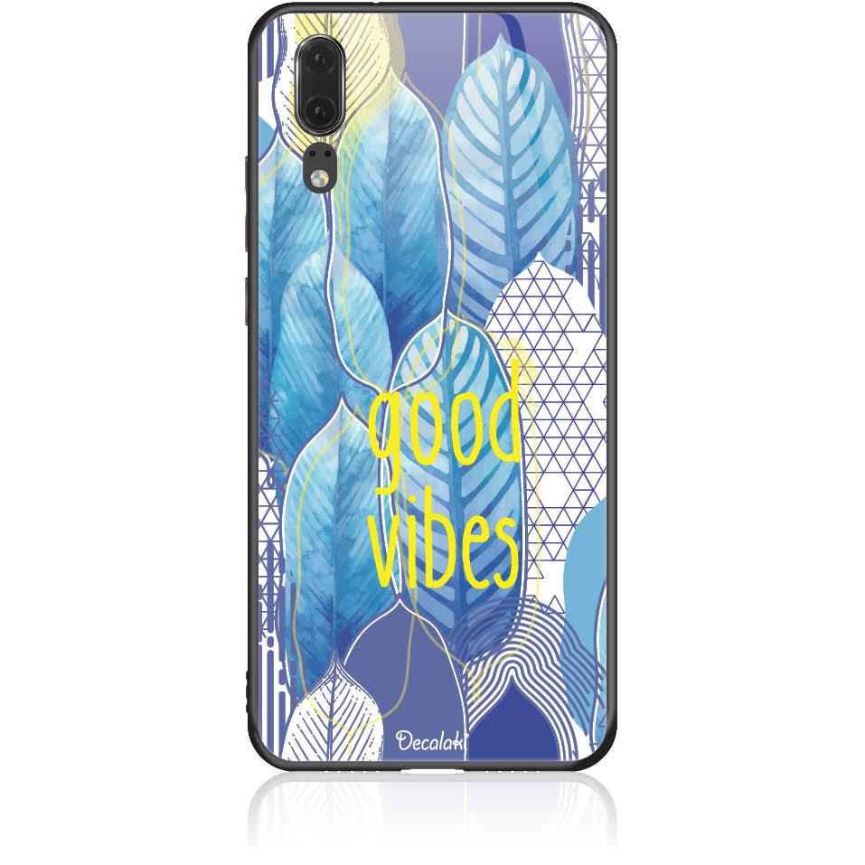 Blue Yoga Phone Case Design 50418  -  Huawei P20  -  Tempered Glass Case