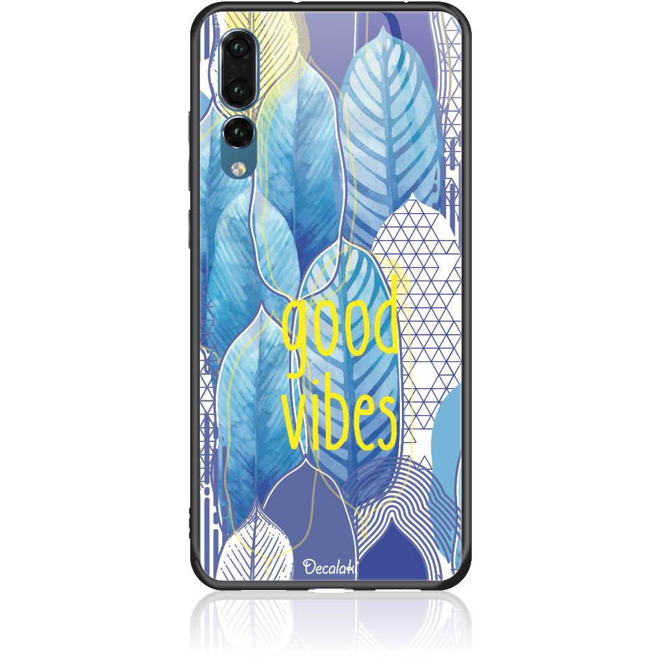 Blue Yoga Phone Case Design 50418  -  Huawei P20 Pro  -  Tempered Glass Case