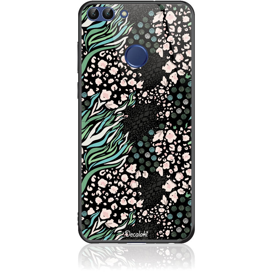 Black Harmony Phone Case Design 50421  -  Huawei P Smart  -  Tempered Glass Case