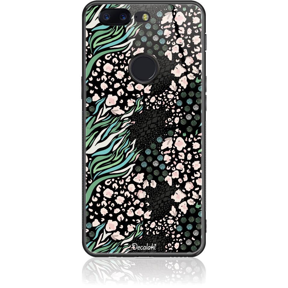Black Harmony Phone Case Design 50421  -  One Plus 5t  -  Tempered Glass Case