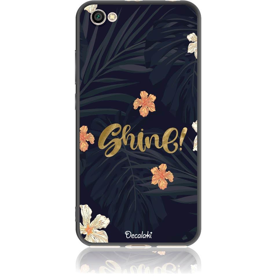 Shine On Dark Floral Phone Case Design 50393  -  Xiaomi Redmi Note 5a  -  Soft Tpu Case