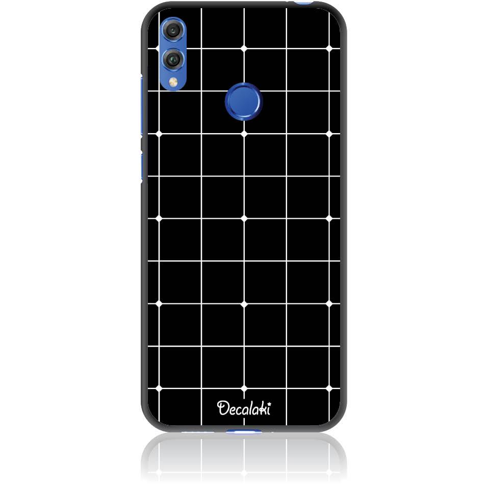 Pattern Black Lines Case Design 50035  -  Honor 8c  -  Soft Tpu Case