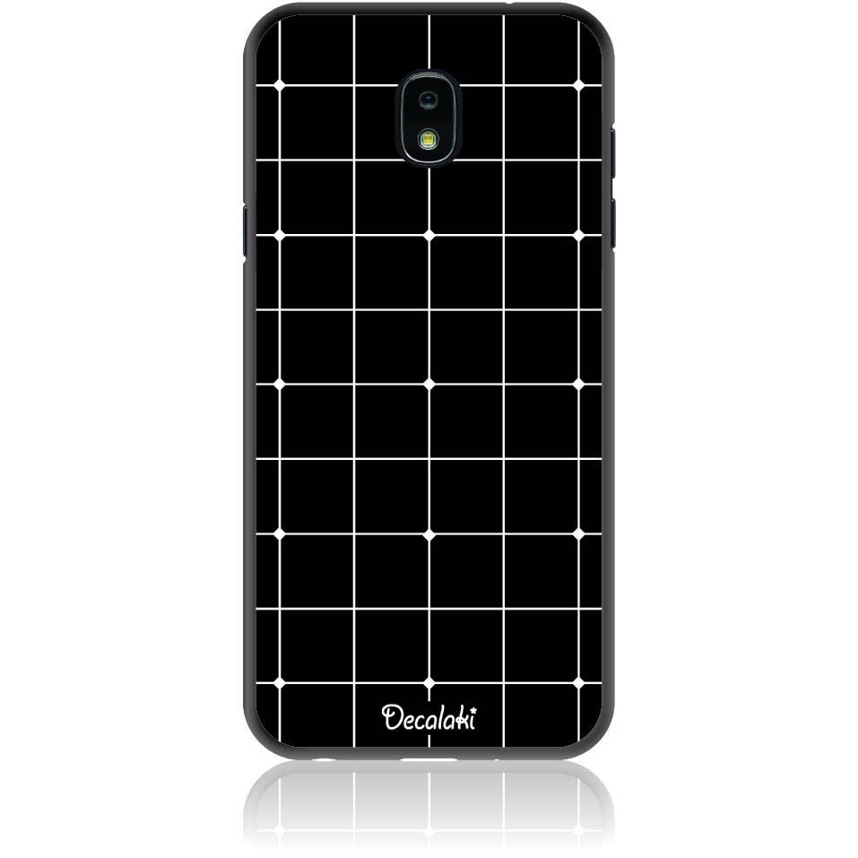 Pattern Black Lines Case Design 50035  -  Samsung J7 2018 (j737)  -  Soft Tpu Case