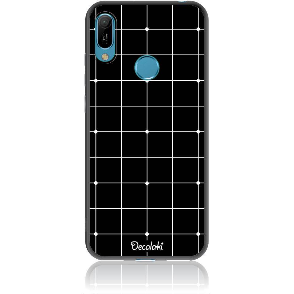 Pattern Black Lines Case Design 50035  -  Huawei Y6 2019  -  Soft Tpu Case