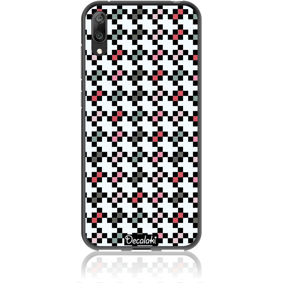 Pattern Tetris Phone Case Design 50036  -  Huawei Y7 Pro 2019  -  Soft Tpu Case