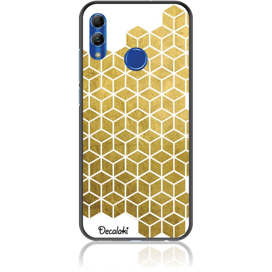 Gold Cubes Phone Case Design 50038  -  Honor 10 Lite  -  Soft Tpu Case