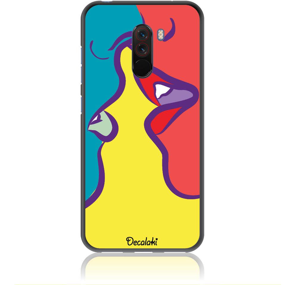 Pop Art Kiss Phone Case Design 50074  -  Xiaomi Pocophone F1  -  Soft Tpu Case