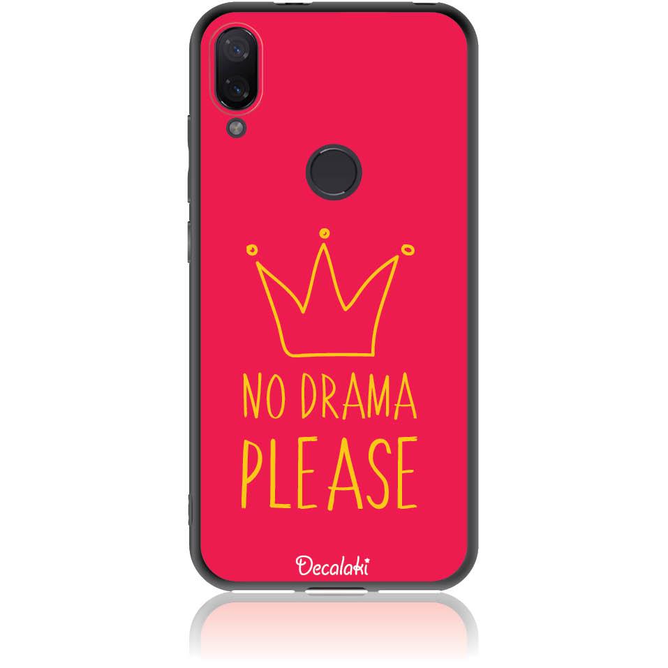 No Drama Please Red Phone Case Design 50092  -  Xiaomi Mi Play  -  Soft Tpu Case