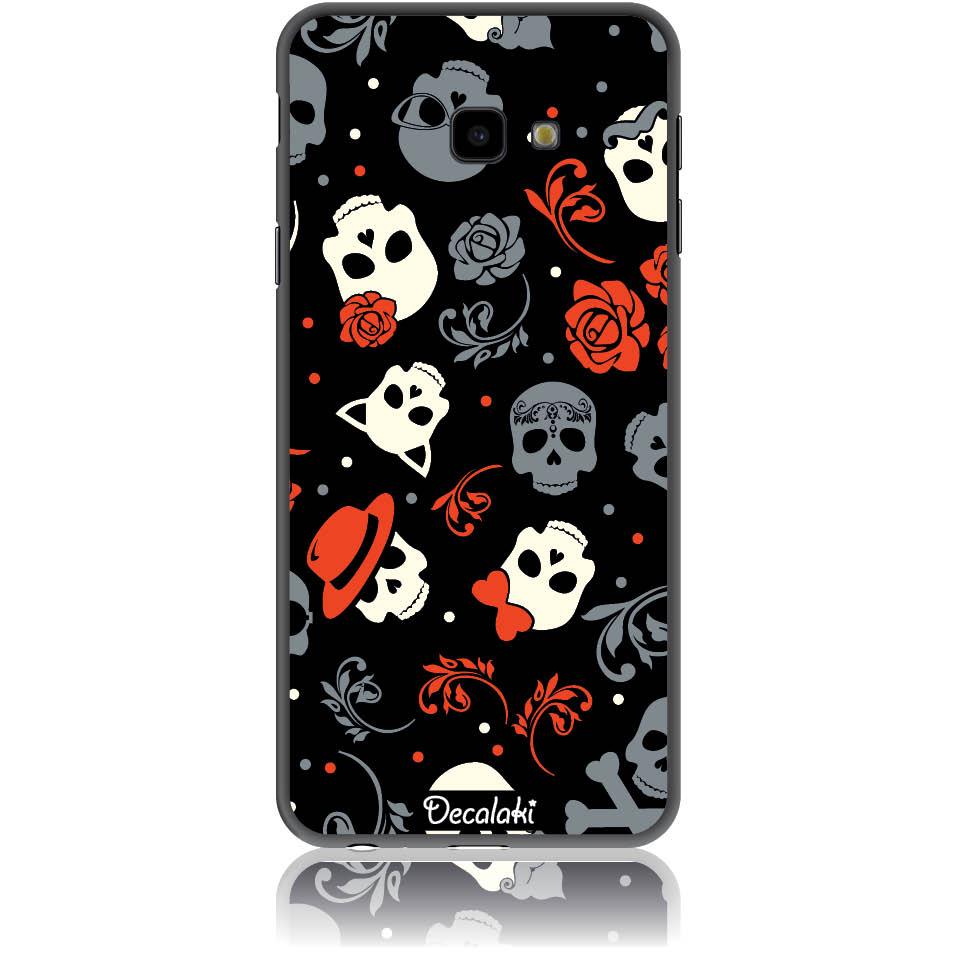 Party Skulls Phone Case Design 50141  -  Samsung J4 Plus  -  Soft Tpu Case