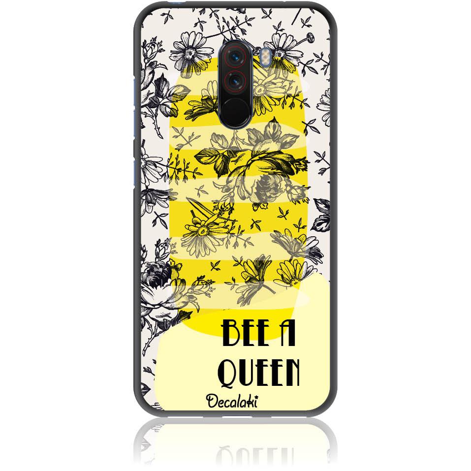 Bee A Queen Phone Case Design 50169  -  Xiaomi Pocophone F1  -  Soft Tpu Case