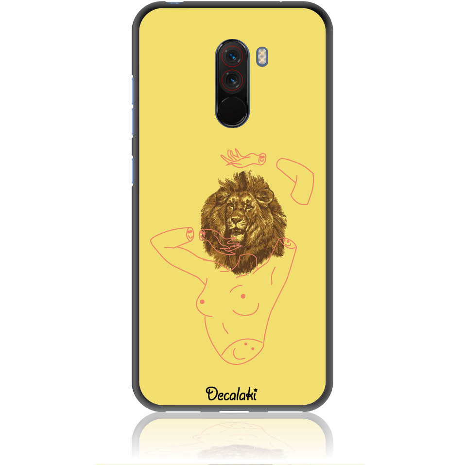 Wild And Free Yellow Lion Head Body Phone Case Design 50190 - Pocophone F1 - Soft Tpu Case