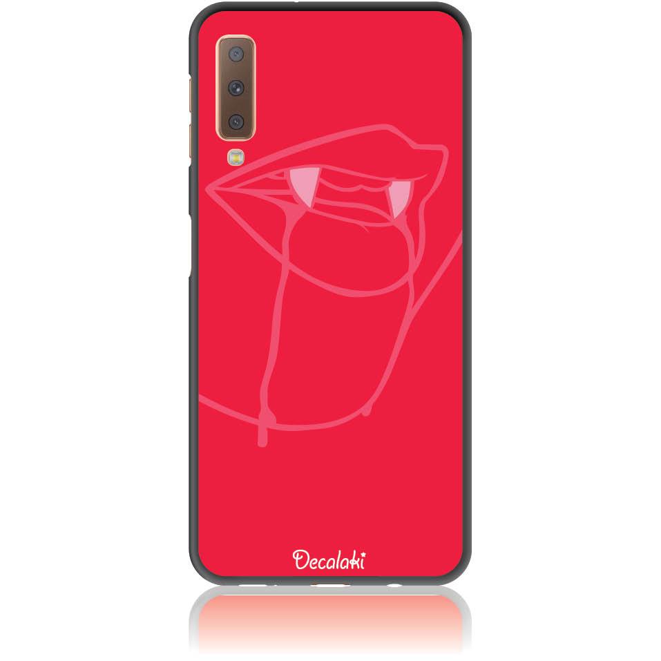 Sexy Vimpire Red Phone Case Design 50226  -  Samsung A7 2018 (a750)  -  Soft Tpu Case