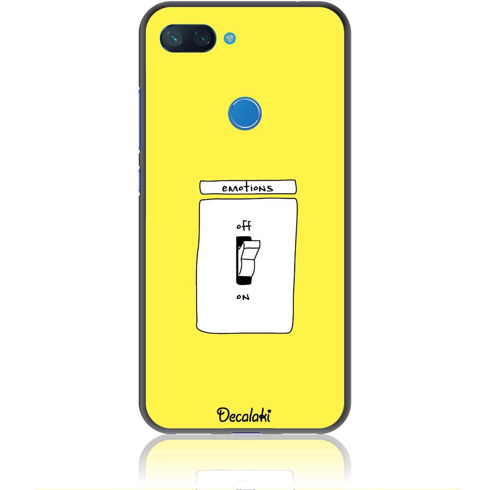 Emotions Off Phone Case Design 50228  -  Xiaomi Mi 8 Lite  -  Soft Tpu Case