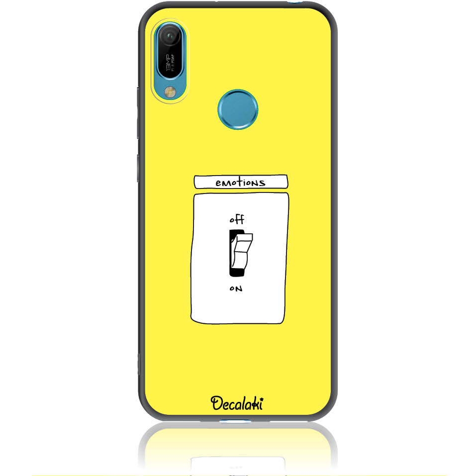 Emotions Off Phone Case Design 50228  -  Huawei Y6 Prime 2019  -  Soft Tpu Case