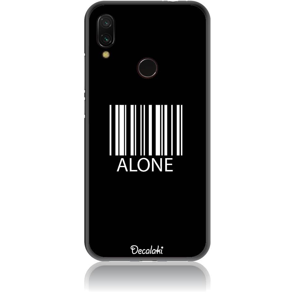 Alone Barcode Art Phone Case Design 50283  -  Xiaomi Redmi Note 7  -  Soft Tpu Case