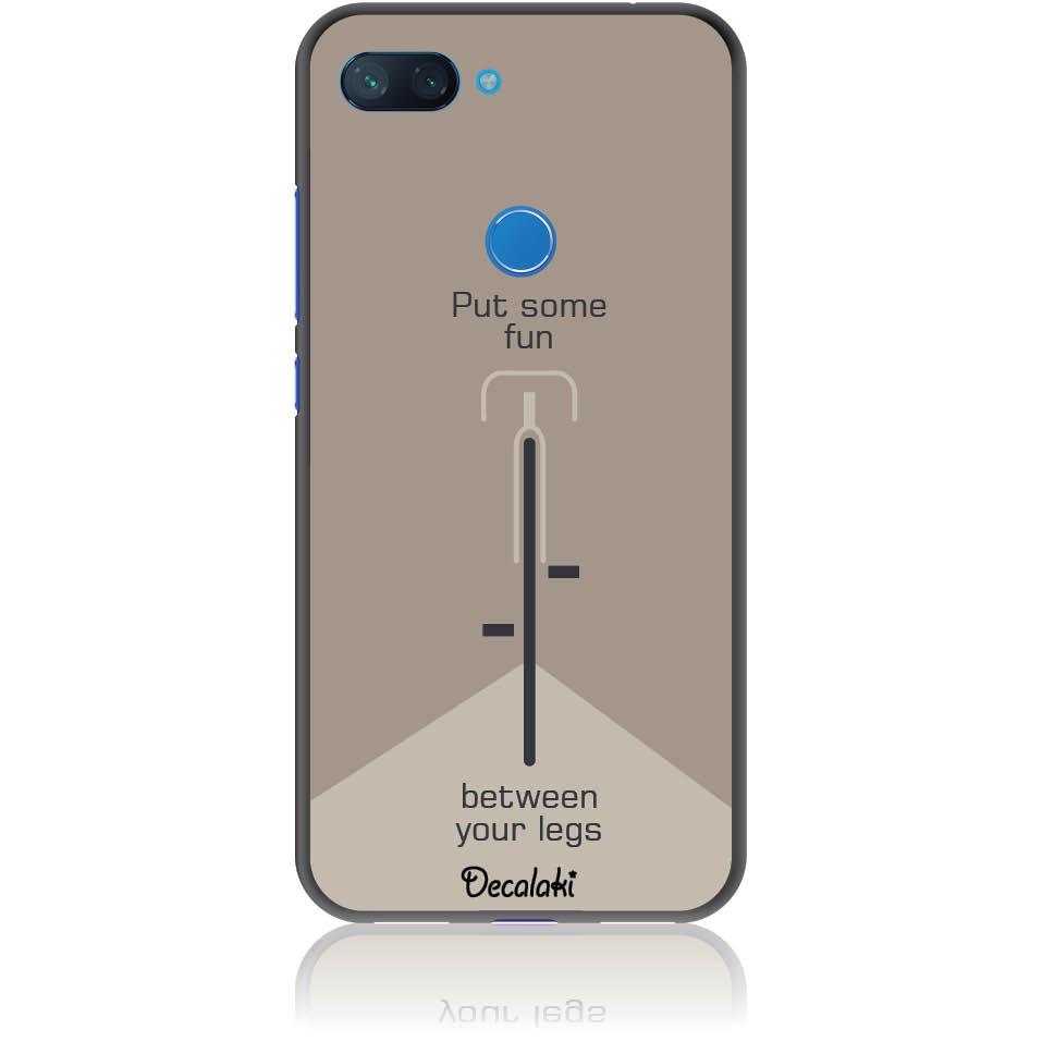 Put Some Fun Cycle Lovers Phone Case Design 50290  -  Xiaomi Mi 8 Lite  -  Soft Tpu Case